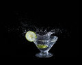 Lime juice splash Royalty Free Stock Photo
