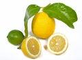 Lime and lemon Royalty Free Stock Photo