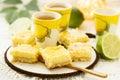 Lime and lemon bars