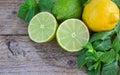 Lime, lemon and mint