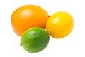 Lime, lemon and orange