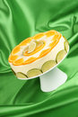 Lime and orange bavarian cream (bavarese) Royalty Free Stock Images