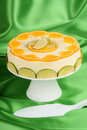 Lime and orange bavarian cream (bavarese) Stock Images