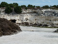 Lime quarry the in the robben island in south africa Stock Photos