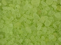 Lime Scented Bath Crystals, Closeup Background