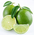 Lime with section Stock Image