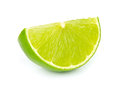Lime segment white Stock Images