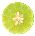 Lime slice of ripe isolated on white background Stock Photos