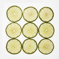 Lime slices. Royalty Free Stock Images