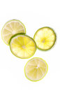 Lime slices isolated on white background Royalty Free Stock Photos