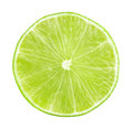 Lime slices isolated Royalty Free Stock Photo