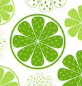 Lime slices pattern or background Royalty Free Stock Photos