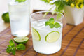 Lime with soda juice mint and Royalty Free Stock Photo