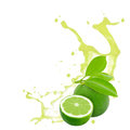 Lime splash Royalty Free Stock Photo