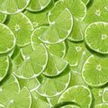 Lime watercolor slice fruit seamless pattern. Background texture. Royalty Free Stock Photo