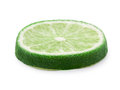 Lime wheel isolated Royalty Free Stock Photo