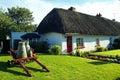 Limerick irlandese di Adare Co. del cottage di vecchio stile Fotografie Stock Libere da Diritti