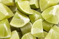 Limes eighth many lime eighths taken in a close up shot Royalty Free Stock Photos