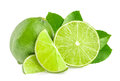 Limes isolated Royalty Free Stock Photo