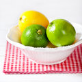 Limes and lemons Stock Images