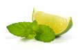 Limes with mint Royalty Free Stock Photos