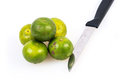 Limes on the white background photo of Royalty Free Stock Photo