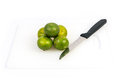 Limes on the white background photo of Royalty Free Stock Image