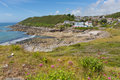 Limeslade Bay the Gower South Wales next to Bracelet bay and near Swansea city and the Mumbles Royalty Free Stock Photo