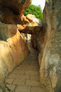 Limestone corridor at Kunming Stone forest Royalty Free Stock Photo