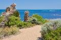 Limestone Decorated Coastal Path Royalty Free Stock Photo