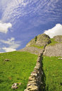 Limestone dry Stone wall, Yorkshire Royalty Free Stock Photos