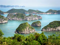 Limestone islands in halong bay vietnam beautiful Stock Photos