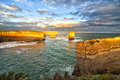 Limestone landscapes of australia the near the twelve apostles close to melbourne Royalty Free Stock Images