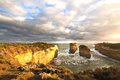 Limestone landscapes of australia at the port campbell national park close to melbourne Stock Photo