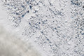 Limestone in natural light diffused water mountain of waste the industrial zone Royalty Free Stock Photography