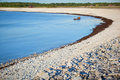 Limestone pebble beach in sweden.GN Royalty Free Stock Image