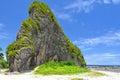 Limestone in pinusilan mapanas northern samar philippines Royalty Free Stock Images