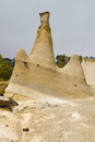 Limestone rock formation Royalty Free Stock Photo