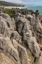 Limestone rock formation at Punakaiki Royalty Free Stock Photo