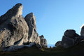 Limestone rock formations at Castle Hill. Royalty Free Stock Photo