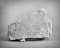 Limestone rock mono lime stone monochrome shot Royalty Free Stock Photos