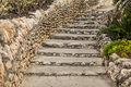 Limestone staircase Royalty Free Stock Photo