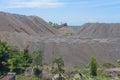 Limestone stockpile landscape style image Stock Photo