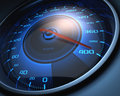 Limit speed speedometer scoring high the of Royalty Free Stock Photography