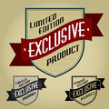Limited Edition / Exclusive Product Retro Seal Royalty Free Stock Photos