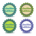 Limited edition stickers set of four isolated on a white background Royalty Free Stock Images