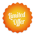 Limited offer badge orange ecommerce web business Stock Images