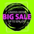 Limited offer big sale banner