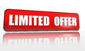Limited offer -  red banner Stock Photos