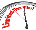 Limited Time Offer Clock Special Saving sale Clearance Event Dea Royalty Free Stock Photo